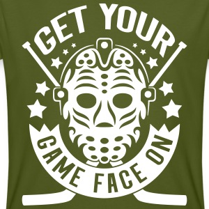 Get Your Game Face On (Ice Hockey) T-Shirts - Men's Organic T-shirt