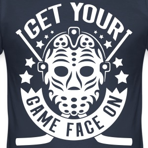 Get Your Game Face On (Ice Hockey) T-Shirts - Men's Slim Fit T-Shirt