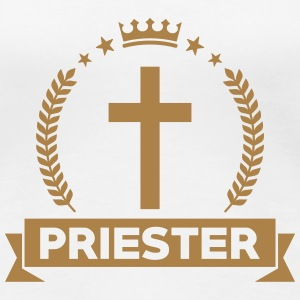Priest Priester Prêtre Religion Cross Croix God T-Shirts - Women's Premium T-Shirt