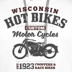 Wisconsin Hot Bikes  Sweat-shirts - Sweat-shirt à capuche Premium pour hommes