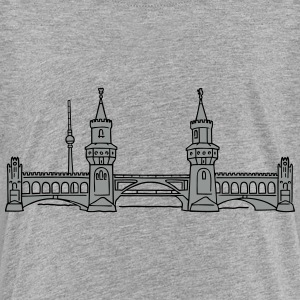 Oberbaum Bridge in Berlin 2 T-shirts - Premium-T-shirt barn
