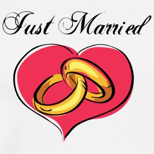 Just Married Wedding Rings - Men's Premium T-Shirt