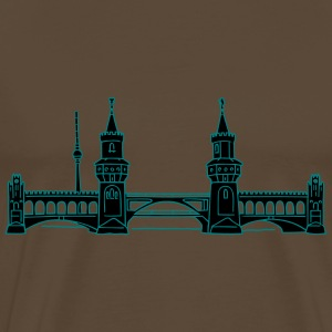 Oberbaum Bridge in Berlin 2 T-shirts - Premium-T-shirt herr
