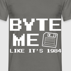 Byte me like it's 1984 Nerd - Männer T-Shirt