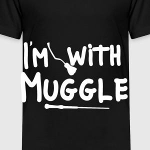 I'm with Muggle Zauberer - Kinder Premium T-Shirt