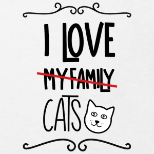 I love my cats T-shirts - Ekologisk T-shirt barn