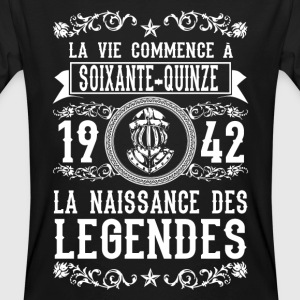 1942 - 75 ans - Légendes - 2017 Tee shirts - T-shirt bio Homme
