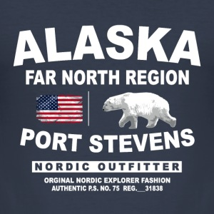 Alaska - Polar Bear  T-Shirts - Männer Slim Fit T-Shirt