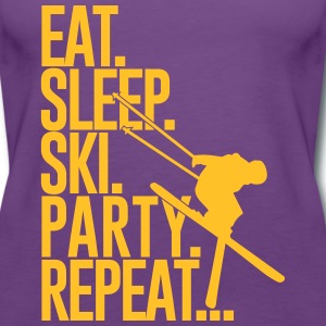 Eat. Sleep. Ski. Party. Repeat... Tops - Frauen Premium Tank Top