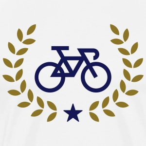 Bicycle, laurel wreath, winner, bike, cycling T-Sh - Men's Premium T-Shirt