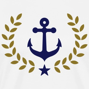 Anchor, winner wreath, harbor, sailing, club, team - Men's Premium T-Shirt