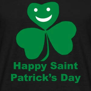 A smiling happy shamrock Saint Patrick's Day - Men's T-Shirt