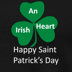 A shamrock heart for Saint Patrick's Day  - Men's Premium T-Shirt