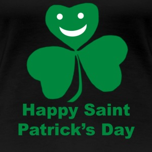 A smiling happy shamrock Saint Patrick's Day - Women's Premium T-Shirt