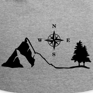 Nature, Mountain, Compass Caps & Hats - Jersey Beanie