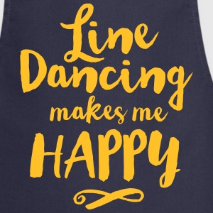 LINE DANCING MAKES ME HAPPY Kookschorten - Keukenschort
