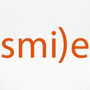 smile Emoticon lächeln lachen Optimist positiv ye - Frauen T-Shirt