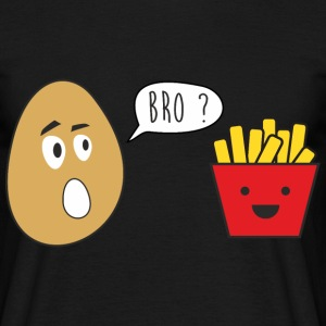 bro french fries , funny, joke brother - Men's T-Shirt
