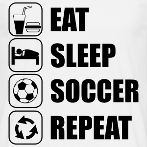 Eat,sleep,soccer,repeat,Football t-shirt - Men's T-Shirt