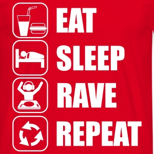 Eat sleep,rave,repeat, DJ, clubbing t-shirt - Männer T-Shirt