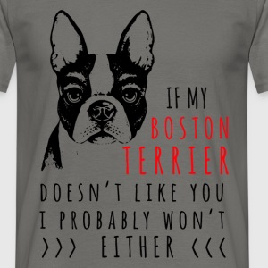 If my Boston Terrier doesn't like you, I probably  - Men's T-Shirt