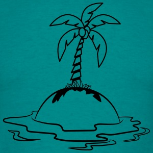 Island holiday palms T-Shirts - Men's T-Shirt