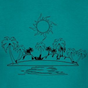 Island holiday sea sun T-Shirts - Men's T-Shirt