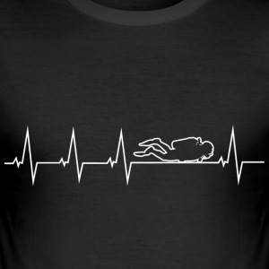 I love diving - heartbeat T-Shirts - Men's Slim Fit T-Shirt