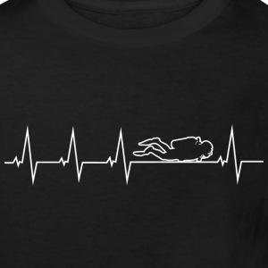 I love diving - heartbeat Shirts - Kids' Organic T-shirt
