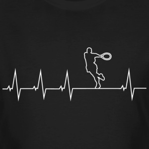 I love tennis 2 - heartbeat T-Shirts - Men's Organic T-shirt