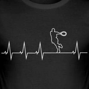 Ik hou van tennis 2 - heartbeat T-shirts - slim fit T-shirt
