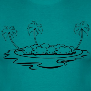 île vacances mer Tee shirts - T-shirt Homme
