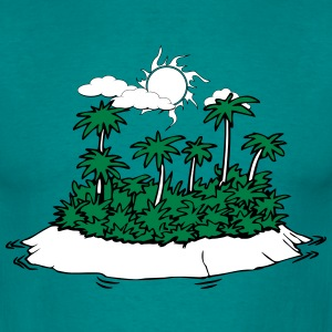 Island palms forest sun holiday T-Shirts - Men's T-Shirt