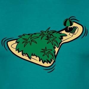 Island palmenwald sea holiday T-Shirts - Men's T-Shirt