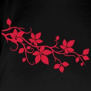 flower wilder Wein Ranke Blatt Leaf 3 T-Shirts - Frauen Premium T-Shirt