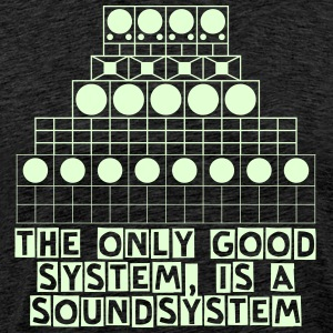Shirt MEN - Soundsystem glow in the dark - Männer Premium T-Shirt
