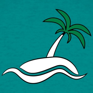 Island Palm havet ferie T-shirts - Herre-T-shirt