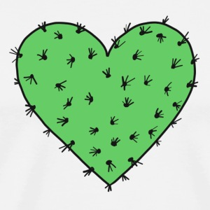 Cactus heart, Free Hugs!, Valentines day, love T-shirts - Mannen Premium T-shirt
