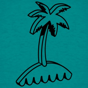 Island palm 3d T-Shirts - Men's T-Shirt