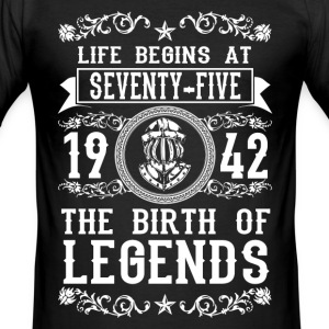 1942 - 75 years - Legends - 2017 T-shirts - Slim Fit T-shirt herr