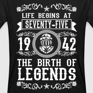 1942 - 75 years - Legends - 2017 Camisetas - Camiseta ecológica hombre