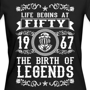 1967- 50 years - Legends - 2017 Tee shirts - T-shirt Bio Femme