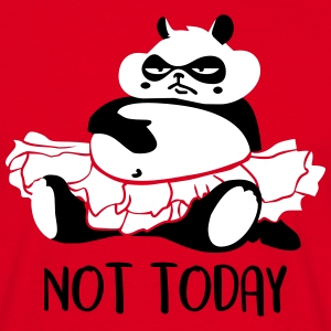 Not today procrastination Panda T-Shirts - Männer T-Shirt