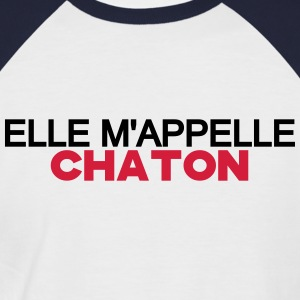 ELLE M'APPELLE CHATON Tee shirts - T-shirt baseball manches courtes Homme