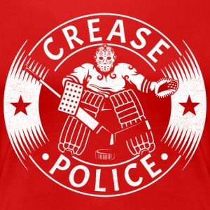 Crease Police Hockey Goalie T-Shirts - Women's Premium T-Shirt
