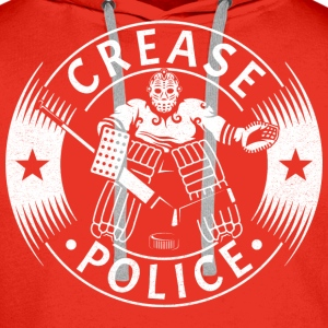 Crease Police Hockey Goalie Hoodies & Sweatshirts - Men's Premium Hoodie