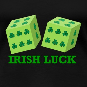 Irish Luck with Shamrock Dice  - Women's Premium T-Shirt