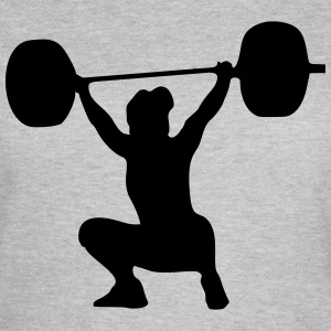 Weightlifter, weightlifting woman T-shirts - T-shirt dam