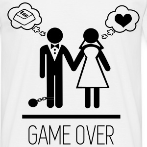 Game over,  Stag Do,stag,stag night,bachelor,party - Men's T-Shirt