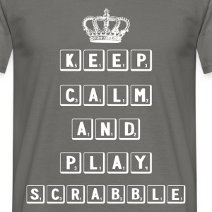 Keep calm and play scrabble - Men's T-Shirt